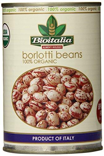 Bioitalia Borlotti Beans, 14-Ounce (Pack of 12)