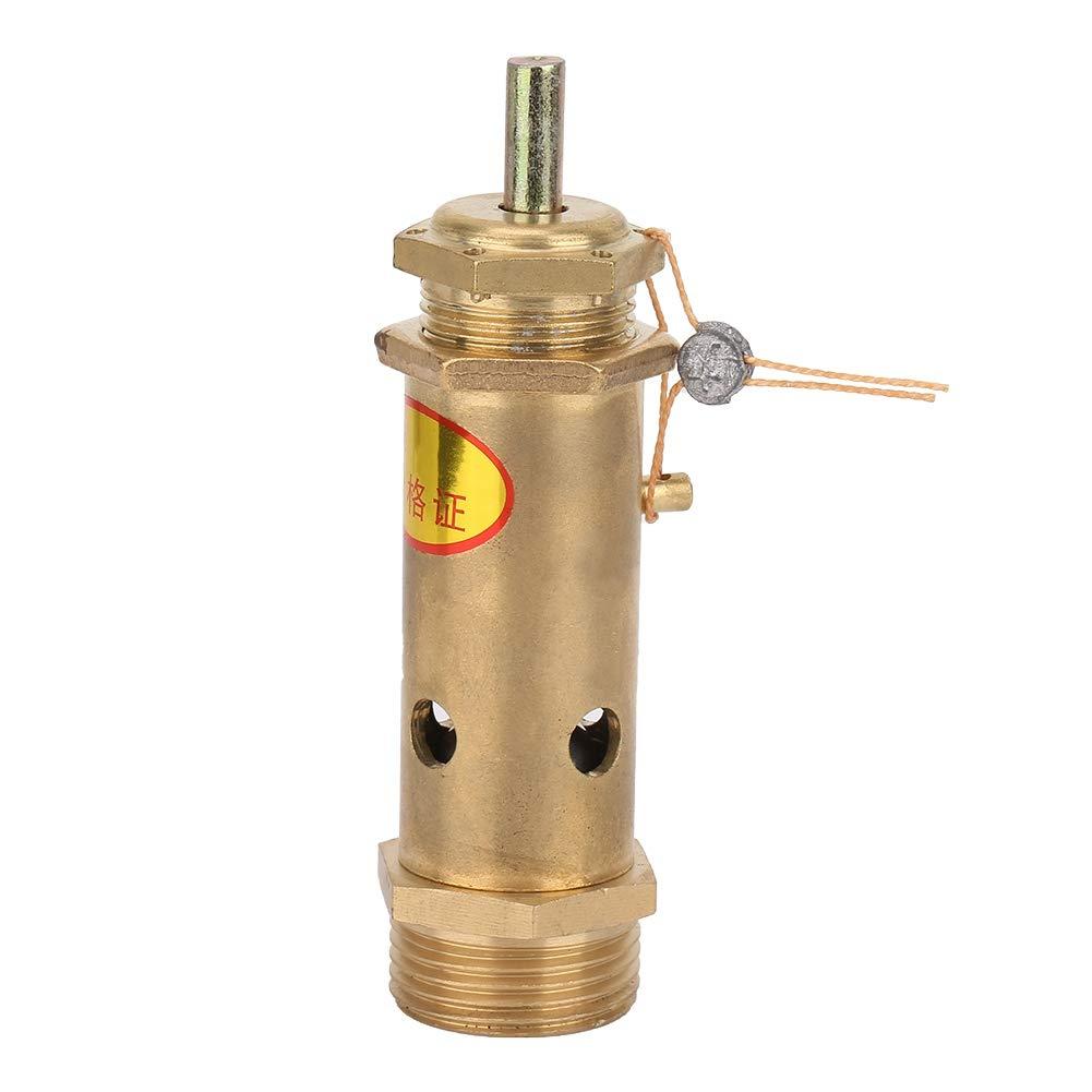 Válvula reductora de presión de agua, Válvula de presión de liberación de seguridad del compresor de aire G3/4 Latón para generador de vapor de caldera (10 kg), válvula reguladora de presión, válvula
