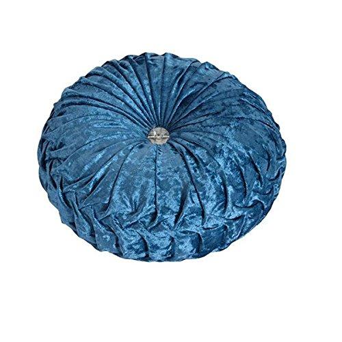 Home Living, Home Decor Pumpkin Throw Pillow Sofa Office Car European Blue Cushion (18x18, Blue)