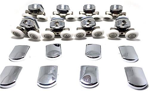 Fijaciones para mampara de ducha de 4-6 mm (4 para parte superior y 4 para parte inferior, cromado): Amazon.es: Bricolaje y herramientas