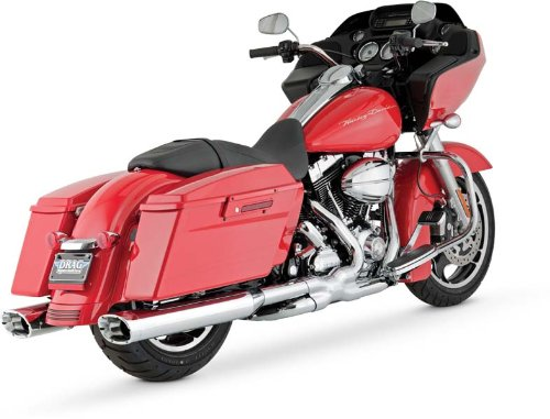 Vance & Hines slip-on muffler MONSTER OVAL (monster oval) steel chrome (chrome end) touring family (95-16) CVO (vehicle with side bag extension) No attached 1801-0311 16755 ()