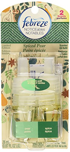 Spiced Pear Scent Oil - Febreze Noticeables Scented Oil Spiced Pear: Pear & Spice, 1 Refill