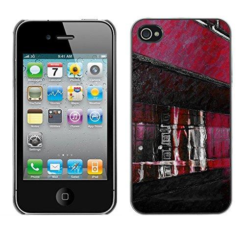 Premio Sottile Slim Cassa Custodia Case Cover Shell // F00025312 Dessin de ruelle // Apple iPhone 4 4S 4G