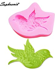 Farmerly Sophronia M536 Bird Shaped Swallows Silicone Mold Cake Decoration Fondant Cake 3D Mold Food Grade 6.6 * 5.5 * 1cm