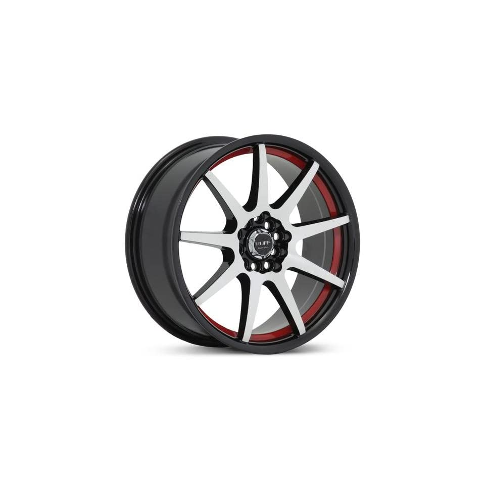 RUFF RACING 353 Red Lip. 17 Inch Machine Black Rims