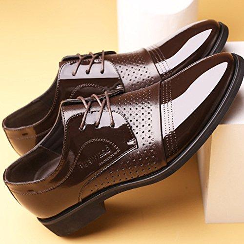Chaussures en Cuir Noir pour Les Hommes Tan Brogue Mariage à Lacets Classique Robe Chaussures Affaires Hommes Chaussures Respirant Conseils Brown 2J8FP704tT