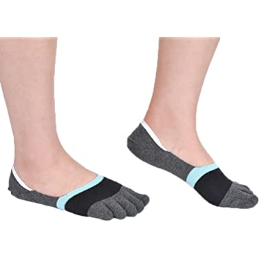 3 Pairs Men Cotton Five Fingers Short Socks Backless Summer Thin Soft Non Slip Full Toe