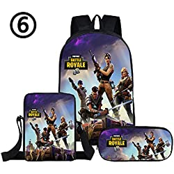 cossun 3pcs Battle Graphic School Backpack Durable Lightweight Large Space Daypacks Student Adult children (style 06)