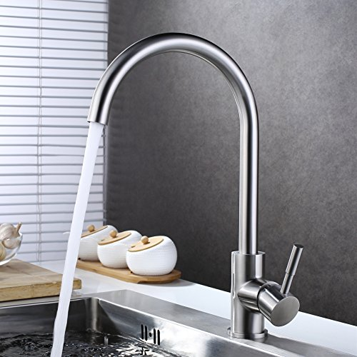 Brushed Nickel High Spout - 6