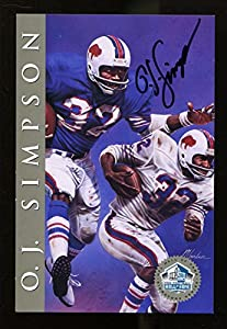 O.J. Simpson Signed Signature Series Card HOF Autographed Bills 21252