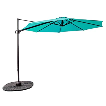 C Hopetree 10u0027 Outdoor Offset Patio Umbrella, Hanging Outdoor Garden  Umbrella, Infinite