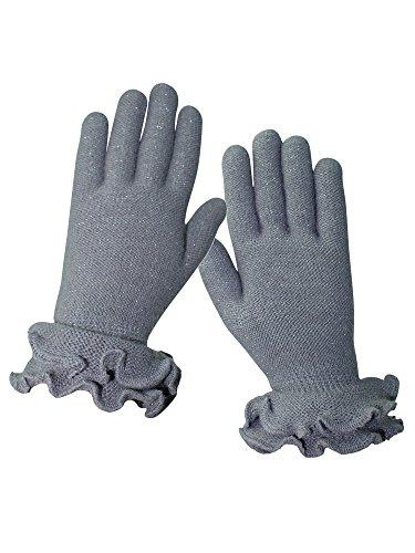 ようこそ比率記念品二層ニット手袋with Ruffle Trim