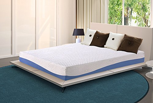 Olee Sleep 10 Inch Cool I Gel Infused Memory Foam Mattress B