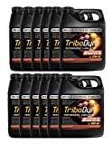 TriboDyn Case 10W40 Fully Synthetic Motorcycle Oil - 12 Quart Case - Lowers Operating Temps, Increases Fuel Mileage, Increases Horsepower