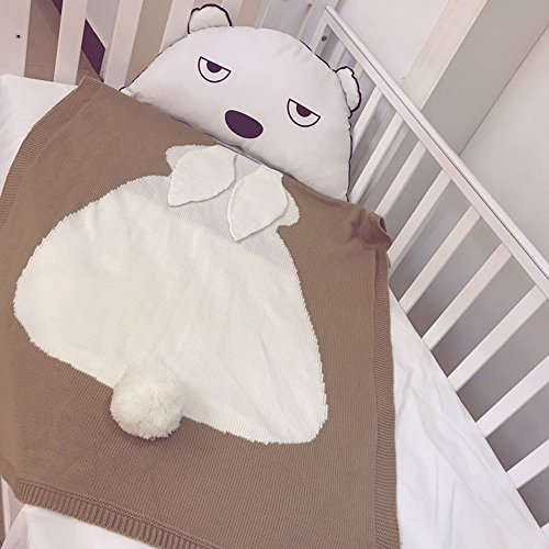 Safari Jogger (Menglihua Soft Warm Toddler Baby Kids Cute Rabbit Blanket Wool Swaddle Absorbent Bath Towel Brown One Size)