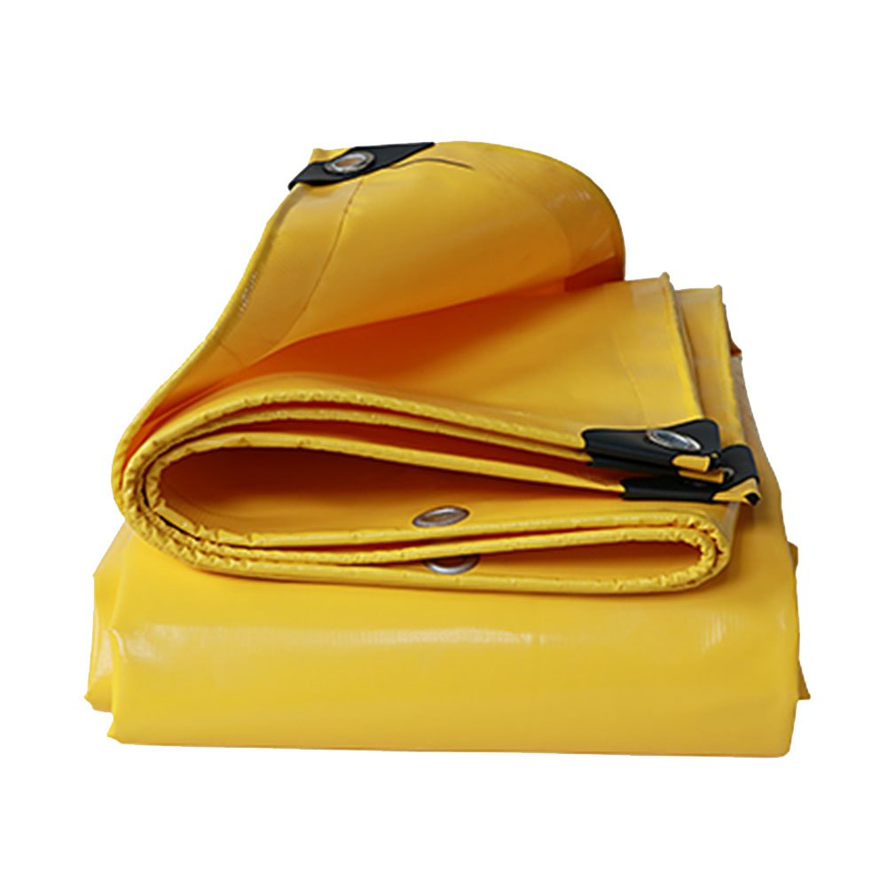 CHAOXIANG オーニング 折りたたみ可能 厚い 両面 防水 耐高温性 日焼け止め 耐寒性 耐摩耗性 防塵の 耐食性 PVC 黄、 500g/m 2、 厚さ 0.55mm、 20サイズ (色 : イエロー いえろ゜, サイズ さいず : 5×5m) B07D9LW289 5×5m|イエロー いえろ゜ イエロー いえろ゜ 5×5m
