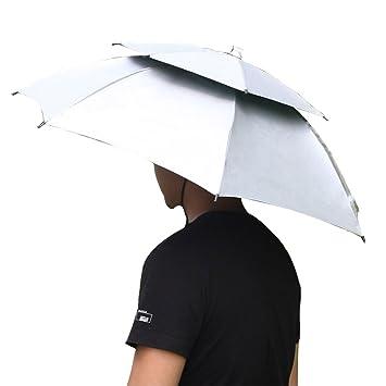 iven pesca paraguas 2 capa plegable sol lluvia paraguas gorra para senderismo Camping viaje