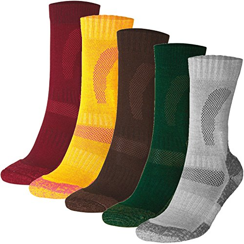DANISH ENDURANCE Merino Wool Hiking & Trekking Socks (Oak Brown 3 Pairs, US Women 11-13//US Men 9.5-12.5) by DANISH ENDURANCE