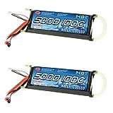 Venom 100C 4S 5000mAh 14.8v Water Cooled Marine 4 Cell LiPO Battery x2 Packs