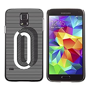 A-type Colorful Printed Hard Protective Back Case Cover Shell Skin for SAMSUNG Galaxy S5 V / i9600 / SM-G900F / SM-G900M / SM-G900A / SM-G900T / SM-G900W8 ( 0 Lines Black White O Zero Nothing )