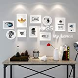 Home@Wall photo frame 10 PCS/Set Home Decoration DIY Photo Frame Sets For Wall Family Picture Frame Sets With Picture Card ( Color : C )