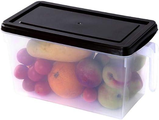 shilihuajian Tanque De Almacenamiento De Plástico Caja De Almacenamiento De Plástico Caja De Almacenamiento De Refrigerador con Asa Superpuesta con Tapa Sala De Almacenamiento De Restaurante @ Brown: Amazon.es: Hogar