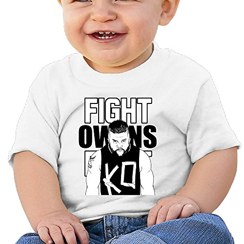 Price comparison product image Boss-Seller Kevin Steen Short-Sleeve T-srhits For 6-24 Months Infant Size 6 M White