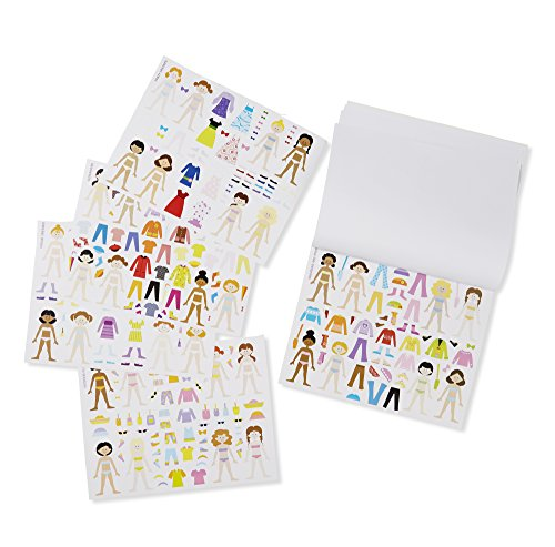 Melissa Doug Sticker Collection Book Fashion 600 Stickers 10 Pages