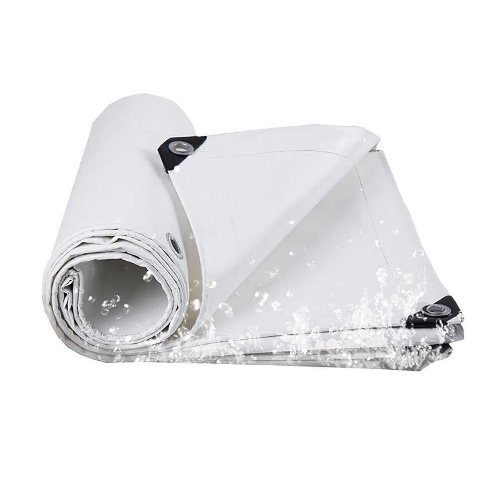 D_HOME Wasserdichte Plane Heavy Duty Im Freien Sunscreen Zelt Splice Markise Sonnenschutz Rainproof Trap Boden Blatt Covers Shed Tuch Truck Cover-Weiß, 550G   M² (größe   2  3m)