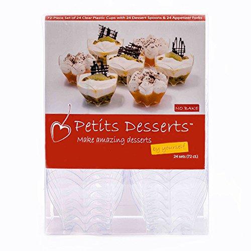 [Dessert Cups, Tasting Spoons, and Forks by PetitsDesserts –BONUS Easy Dessert Recipe e-Book] (Easy But Cute Halloween Treats)