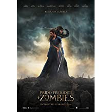 """Pride and Prejudice and Zombies - Movie Poster (2016), Size 24 x 36"""" Inches , Glossy Photo Paper (Thick 8mil)"""
