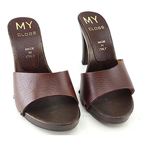 MY31 Cuir Sabot Marrone shoes kiara Femme RIawBWq