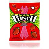 Sour Punch Strawberry Sour Straws 4.5oz Bag (12 Pack)