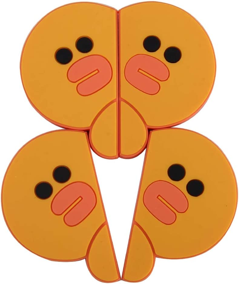 XUAILI Autot/ür Kantenschutz Leiste Kreative Ente-Form-Karikatur-Art-PVC-Auto-Schutz Anti-Kratz-T/ür-Schutz dekorative Aufkleber 4 St/ück