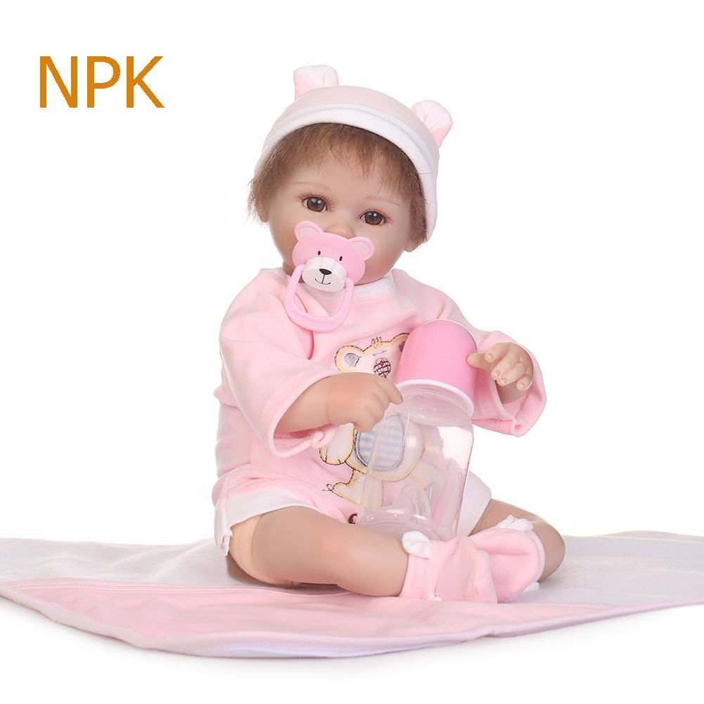 chinatera Little Girls Toy NPK Lifelike Simulation Reborn Cute Doll Soft Silicone Artificial Kids Cloth Doll by chinatera (Image #2)