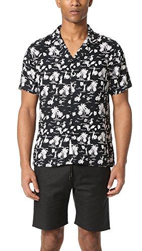 Native Youth Men's Fintra Short Sleeve Shirt, Black, Large