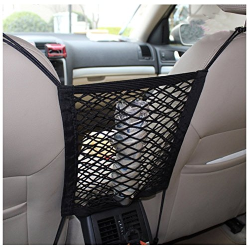 jcsportline universal car seat storage mesh organizer seat back net bag mesh cargo net hook. Black Bedroom Furniture Sets. Home Design Ideas