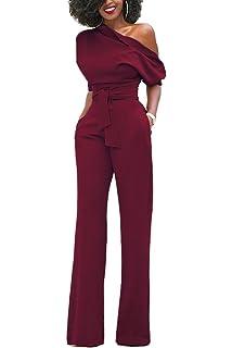 356dfa82bf399 emmarcon Tuta Elegante Pantaloni Lungo Jumpsuit Vestito Abito Cerimonia da  Donna