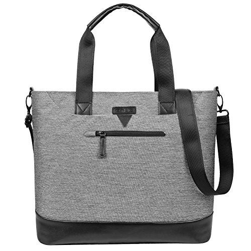 DTBG Ladies Laptop Tote Bag, Stylish Large Womens Business Laptop Shoulder Bag Work Tote Purse Office Messenger Briefcase Travel Shopping Handbag with Strap for Up to 15.6 Inch Laptop (Fujitsu Travel Bag)