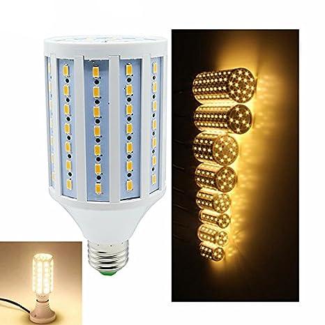 Bombilla de Alta iluminación de últimos Modelos, 220V E27 SMD5730 LED con Estilo maíz luz Highlight, lámpara Noche luz decoración: Amazon.es: Hogar