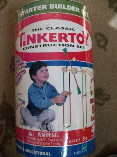 The Classic TinkerToy Construction Set STARTER BUILDER SET Tinker Toys