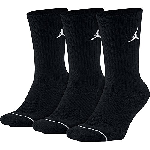 Flight Crew Gear (Jordan Jumpman 3-Pack Crew Socks Mens Style: SX5545-013 Size: L)
