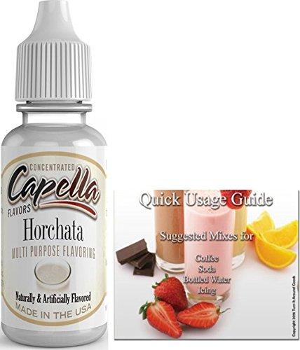 - Capella Flavor Drops Concentrated & Quick Start Guide Bundle (Horchata, 13ml)