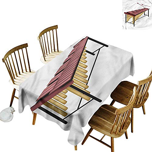 one1love Anti-Fading Tablecloths Marimba Wooden Beaters Percussion Modern Minimalist 60