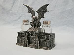 Gargoyle Figurine Mythical Ward Salt and Pepper Shaker Holder