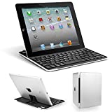 Frog-tech® Aluminum Keyboard for iPad Wireless Bluetooth Keyboard Keypad Case Cover For iPad 2 3 4 Tablet