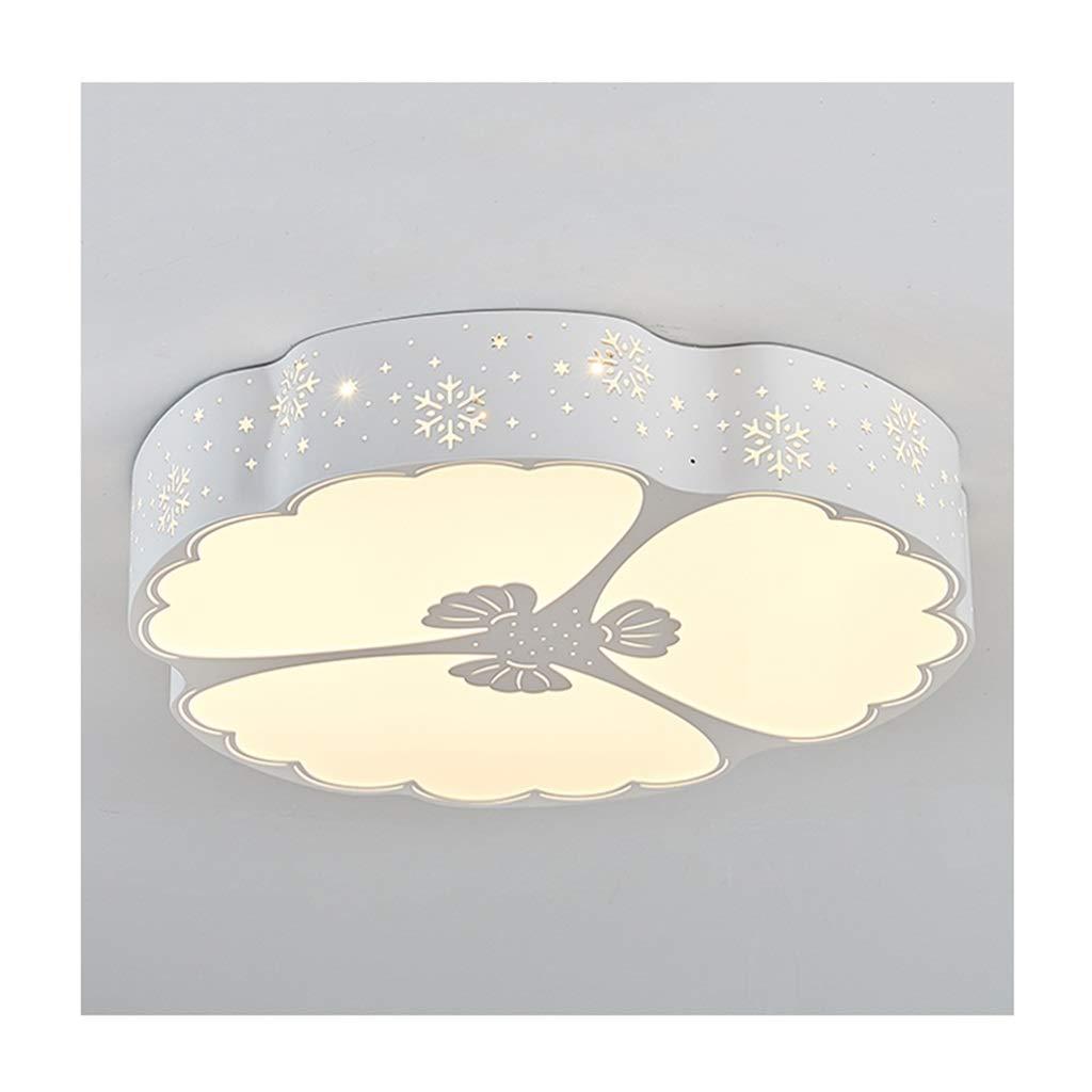天井照明 シーリングライトモダンファッションled調光可能アクリル中空錬鉄製のリビングルームの装飾子供部屋の研究ダイニングルームエントランスシーリングランプ シーリングライト (Color : B, Size : 50cm/36w/Three-color dimming)   B07SH27W3L