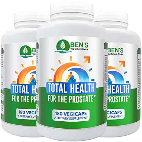 Ben's Total Health for The Prostate - Shrinks Prostate Gland - Fights BPH & Prostate Disease - Reduce Frequent Urination (3 Bottles)