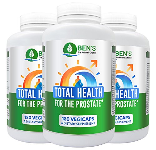 (Ben's Total Health for The Prostate - Shrinks Prostate Gland - Fights BPH & Prostate Disease - Reduce Frequent Urination (3 Bottles))