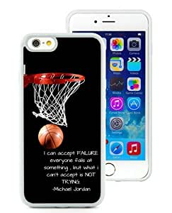 Case For iPhone 6,basketball is my life White iPhone 6 (4.7) TPU Case Cover
